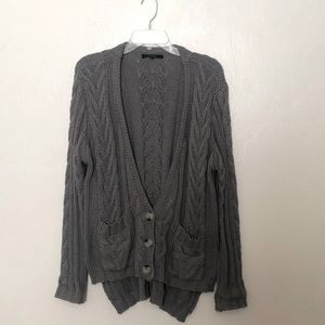 Olivaceous Oversized Chunky Knit Button Cardigan